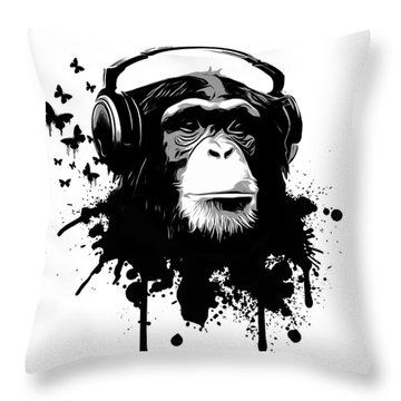 Monkey Business Throw Pillow by Nicklas Gustafsson