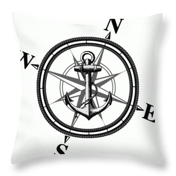 Nautica Bw Throw Pillow by Nicklas Gustafsson
