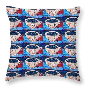 Not My Cup Of Tea Throw Pillow
