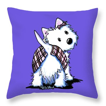 Dressed To Kilt Westie Throw Pillow
