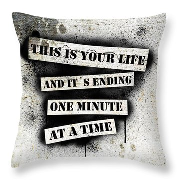 This Is Your Life - Fight Club Throw Pillow by Nicklas Gustafsson