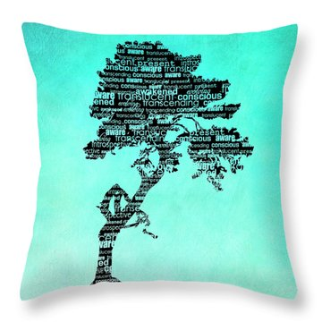 Bodhi Tree Of Awareness Throw Pillow by Tammy Wetzel