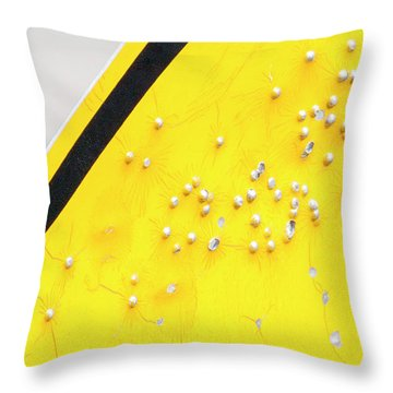 Throw Pillow featuring the photograph That's Not Braille by Bill Kesler