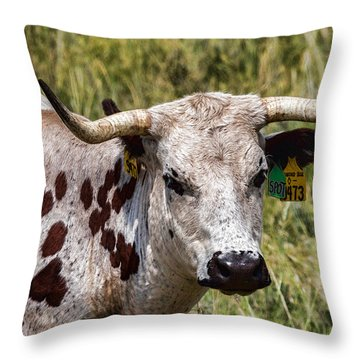 Throw Pillow featuring the photograph Call Me Spot by Bill Kesler