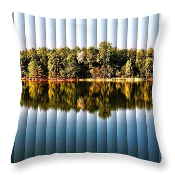 Throw Pillow featuring the photograph When Nature Reflects - The Slat Collection by Bill Kesler