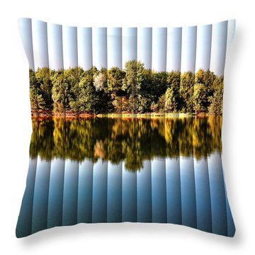 When Nature Reflects - The Slat Collection Throw Pillow