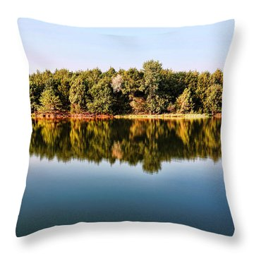 Throw Pillow featuring the photograph When Nature Reflects by Bill Kesler