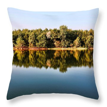 When Nature Reflects Throw Pillow