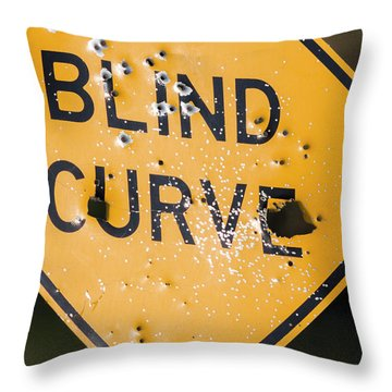 Throw Pillow featuring the photograph Blind Curve by Bill Kesler
