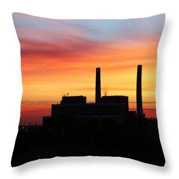 A Gentleman Sunrise Throw Pillow