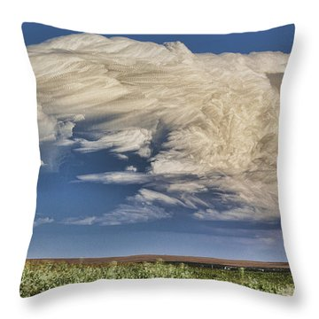 Throw Pillow featuring the photograph Cloud Brew by Bill Kesler