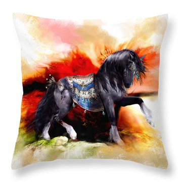 Kachina Hopi Spirit Horse  Throw Pillow