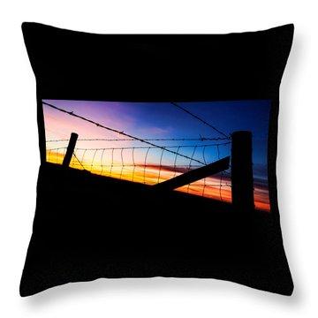 Hilltop Sunset Throw Pillow by Bill Kesler