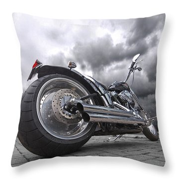 Storming Harley Throw Pillow