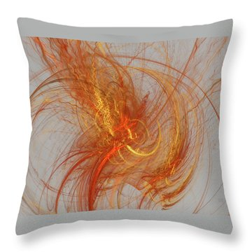 Medusa Bad Hair Day - Fractal Throw Pillow by Menega Sabidussi