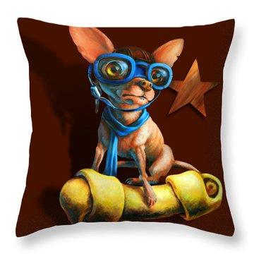 I've Got Mine Throw Pillow by Vanessa Bates