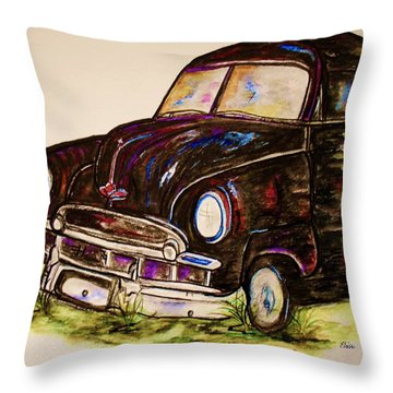 Car Of Character Throw Pillow by Eloise Schneider
