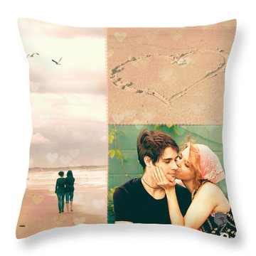 Young Love Throw Pillow