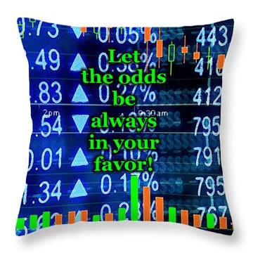 Stock Exchange Throw Pillow