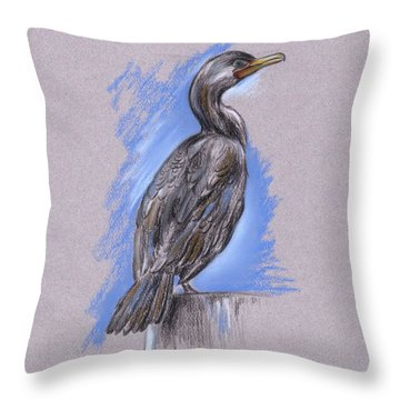 Cormorant Throw Pillow by MM Anderson