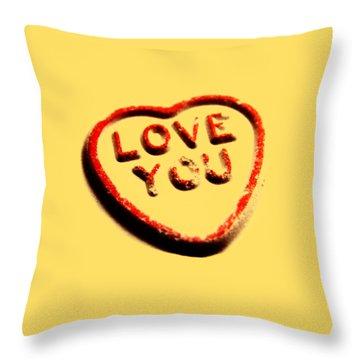 Love You Throw Pillow by Mark Rogan
