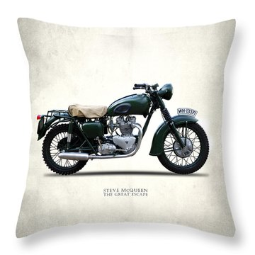 The Great Escape Motorcycle Throw Pillow