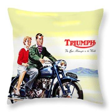 Triumph 1953 Throw Pillow