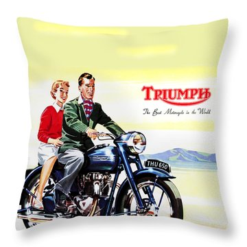 Triumph 1953 Throw Pillow
