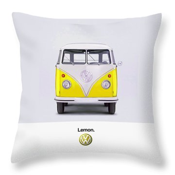 Lemon Throw Pillow by Mark Rogan