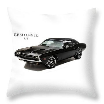 Dodge Challenger Rt Throw Pillow by Mark Rogan