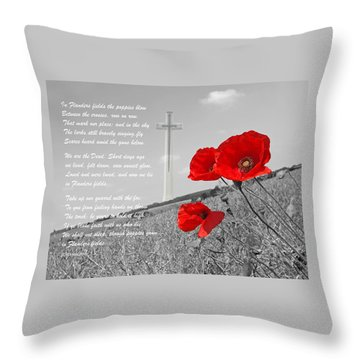 In Flanders Fields Throw Pillow