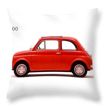 Fiat 500 R 1972 Throw Pillow