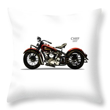 Indian Chief 1937 Throw Pillow by Mark Rogan