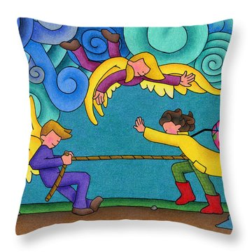 Through The Storm Throw Pillow by Sarah Batalka
