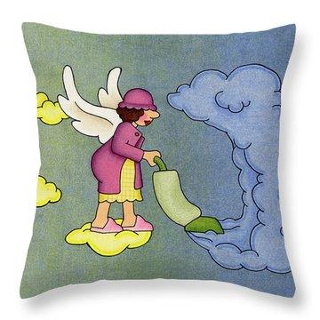 Heavenly Housekeeper Throw Pillow by Sarah Batalka