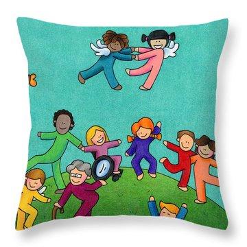 Jubilation Throw Pillow by Sarah Batalka
