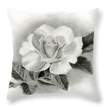 Vintage Rose Throw Pillow