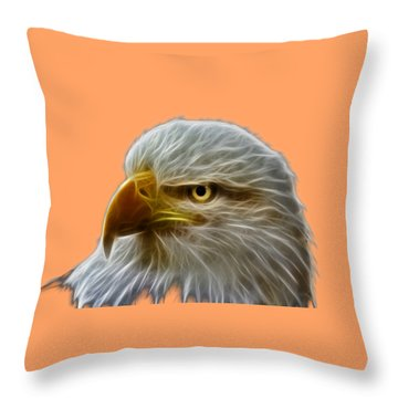 Glowing Eagle Throw Pillow