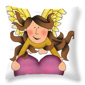 From The Heart Throw Pillow by Sarah Batalka