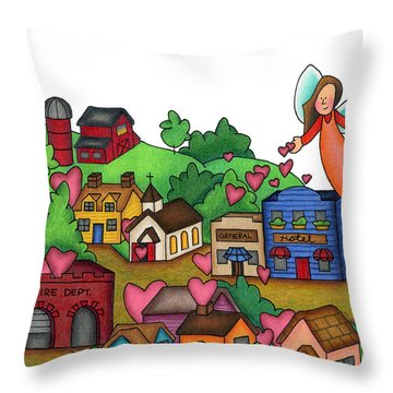 Seeds Of Love Throw Pillow by Sarah Batalka
