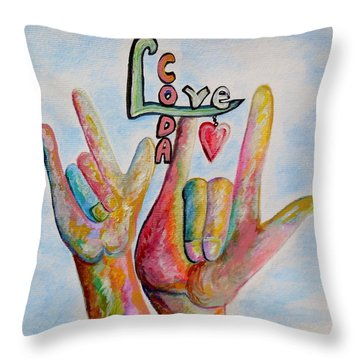 Coda - Children Of Deaf Adults Throw Pillow