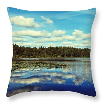 Reflections Of Nature Throw Pillow by Nicklas Gustafsson