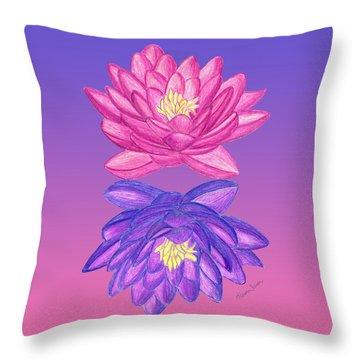 Sunrise Sunset Lotus Throw Pillow
