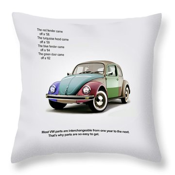 Vw Parts Throw Pillow by Mark Rogan