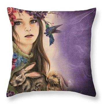 Spring  Throw Pillow by Sheena Pike