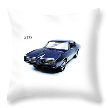 Pontiac Gto Throw Pillow