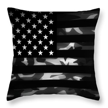 American Camouflage Throw Pillow by Nicklas Gustafsson
