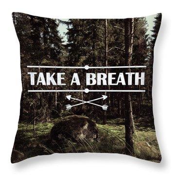 Take A Breath Throw Pillow by Nicklas Gustafsson