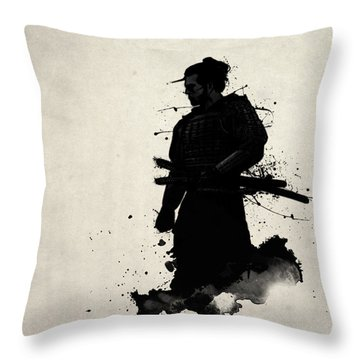 Samurai Throw Pillow by Nicklas Gustafsson