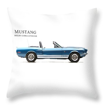 Shelby Cobra Gt500 Kr Throw Pillow by Mark Rogan